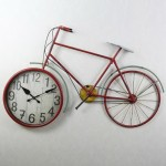 Metallic Bicycle Wall Clock